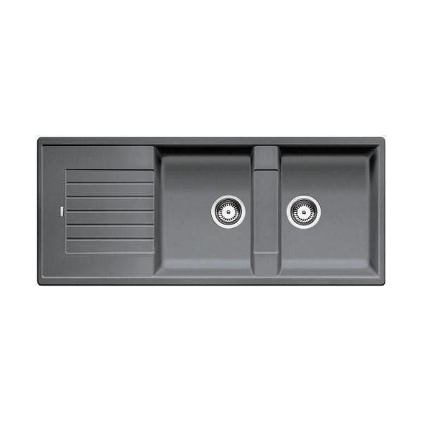 Chậu rửa bát dương bàn bếp BLANCO BLANCOZIA 8S-Alu Metallic 565.76.950