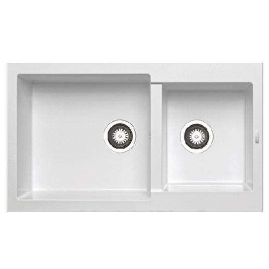 Chậu rửa bát dương bàn bếp HAFELE Màu trắng HS-G8650-White 565.88.501