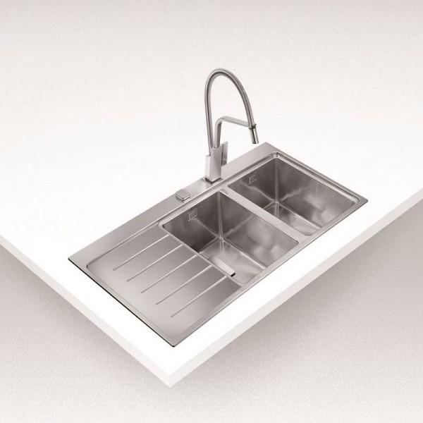 Chậu rửa bát dương bàn bếp TEKA ZENIT R15 2B 1D RHD