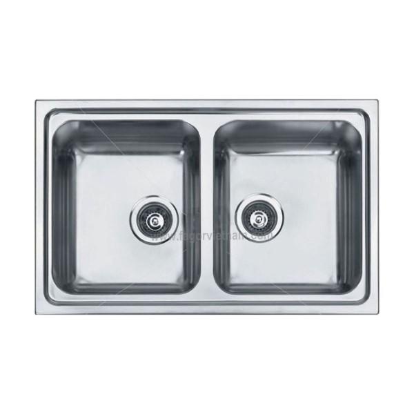 Chậu rửa bát âm bàn bếp FAGOR 2FBE33X2B
