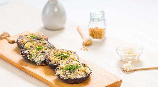 Làm món nấm  nhồi sốt & phô mai bằng lò nướng Bosch